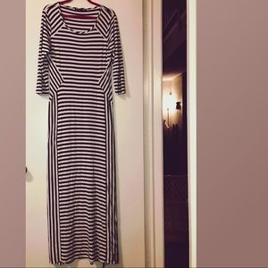 NWOT Versona Black & White Maxi Dress Sz XL
